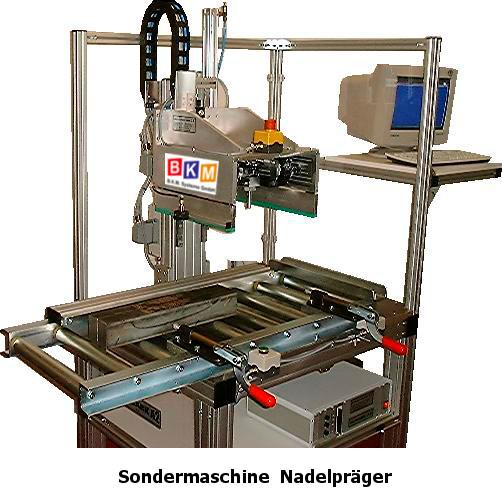BKM Systeme::Sondermaschine Nadelpräger mit Vereinzelung_1