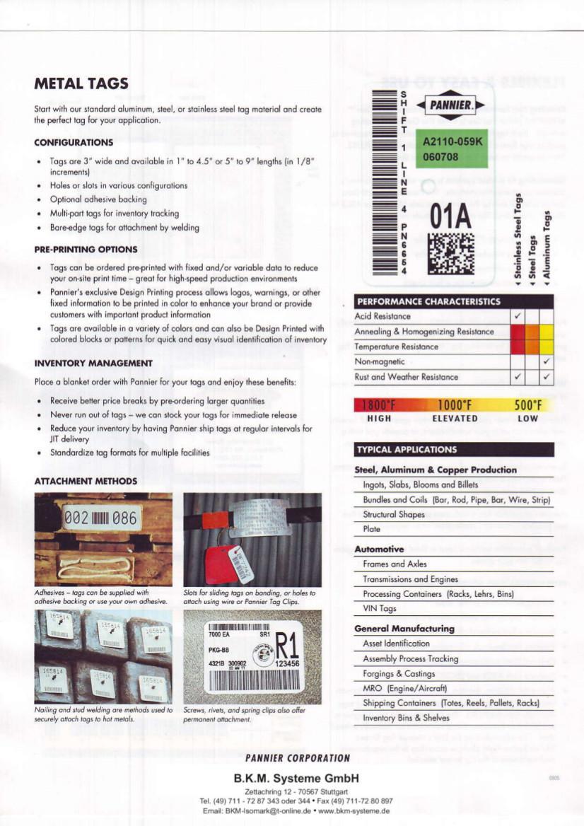 BKM Systeme::Stahletiketten